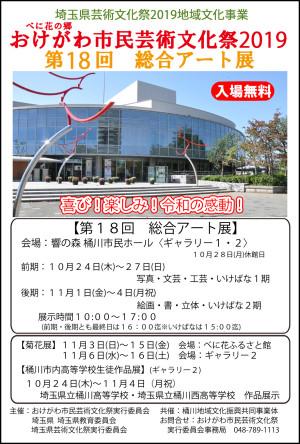 総合アート展 ポスター